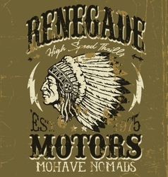 Vintage Americana Motorcycle Apparel Design vector image