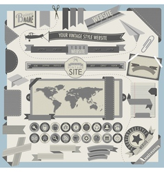 Website headers and navigation elements vector image