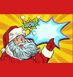 wow santa claus new year and christmas vector image vector image