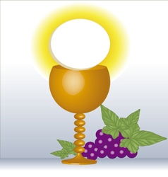 first Communion Eucharist vector image