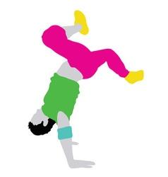 Male dancer silhouette vector