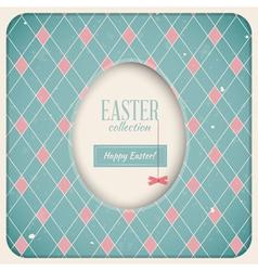 Easter retro card vector