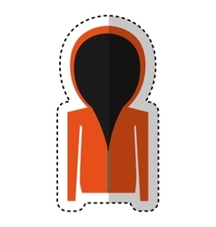 Sports sweater isolated icon vector