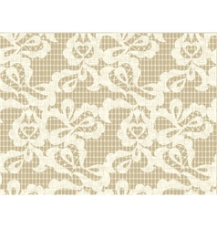 Lace fabric seamless pattern vector