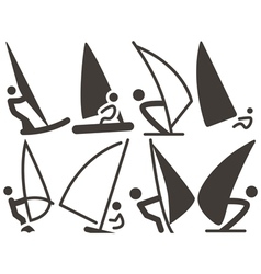 Set of sailing icons vector