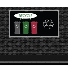 Recycle advertising board vector