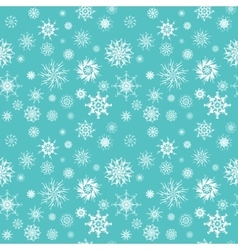 Elegant white snowflakes of various styles vector