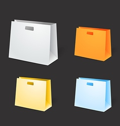 Different paper shopping bags vector