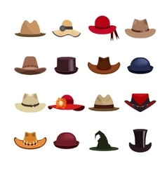Set of man and woman hats vector