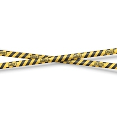 Police line tape vector
