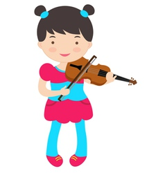 Cute violinist vector image