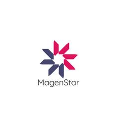 abstract circle star logo template modern vector image