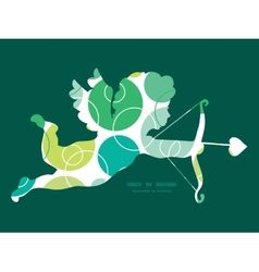 Abstract green circles shooting cupid vector