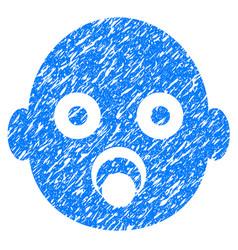 baby head grunge icon vector image