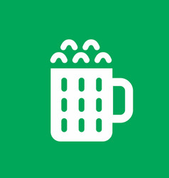 Beer simple icon vector