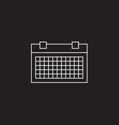 Calendar line icon outline logo vector