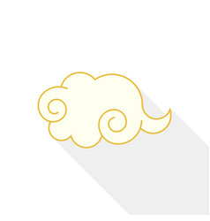 chinese cloud icon flat design with long shadow vector image vector image