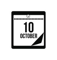Columbus day calendar icon vector image vector image