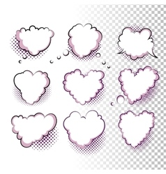 Comic Valentine Hearts vector image vector image