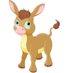 Cute smiling donkey vector