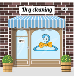 Dry cleaning service vector