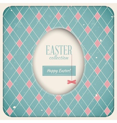 Easter Retro Card vector image