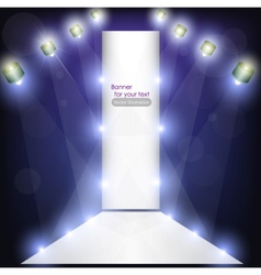 empty podium for product advertising with lighting vector image vector image