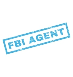 Fbi agent rubber stamp vector