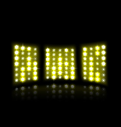 floodlight of stadium on a dark background vector image vector image
