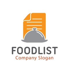 Food list design vector