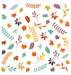 hello autumn autumn leaves background vector image vector image