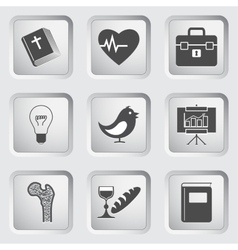 Icons on the buttons for web design set 2 vector