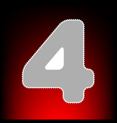 Number 4 sign design template element postage vector