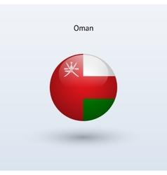 Oman round flag vector