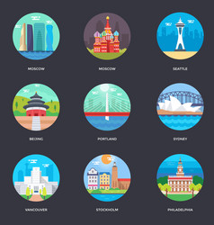 Pack of world cities 2 vector