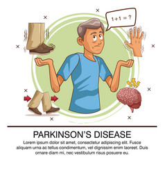 parkinsons disease infographic vector image