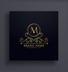 premium letter m logo concept design with vector image vector image