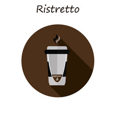 ristretto coffee in a paper cup vector image vector image