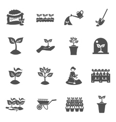 Seedling icons set vector