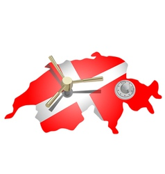 swiss bank vector image