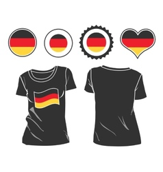 t-shirt with the flag of Germany vector image vector image