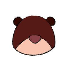 teddy bear cartoon infantile head faceless vector image vector image