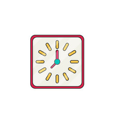 Wall clock flat vector