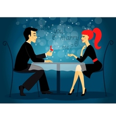 Will you marry me marriage proposal vector image vector image