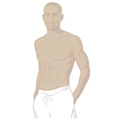 Young african american male vector image