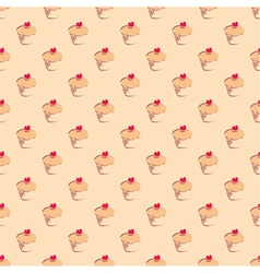Seamless pattern texture or background with cakes vector image