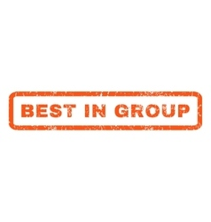 Best in group rubber stamp vector