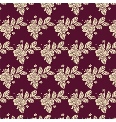 Rose pattern background texture vector
