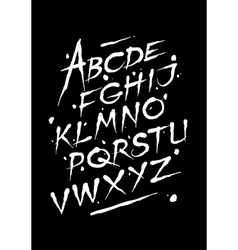 Hand drawn ink font editable alphabet vector