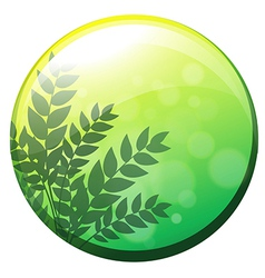 A green circle border vector